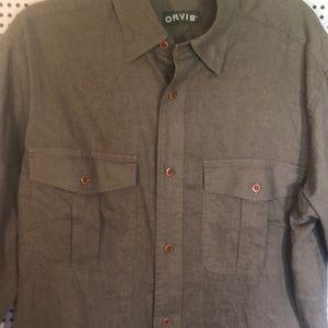Orvis men's hemp Button Down Shirt